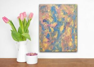 CANARY FLIGHT Abstract Painting Canvas Art by Kim Magee 50 x 40 cm