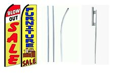 Blowout Sale Furniture Sale  King Size  Swooper Flag Sign  W/Complete 2 Full Set