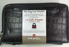 Mundi / My Big Fat Wallet / BROWN / Faux Croc Leather/ Safe Keeper NIB / Reg $38