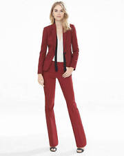 New $80 EXPRESS Ultimate Double Weave Slim Columnist Pant red Burgundy 4R