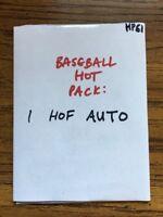 BASEBALL GOAT HOF AUTO HOT PACK: 1 MLB Hall of Famer Autograph Card [HP61]