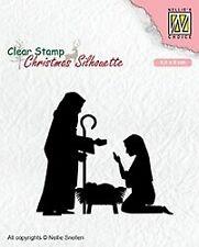 Motiv-stempel Clear stamp Silhouette Nativity Krippe Weihnachten Nellie CSIL007