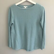 J Jill Chalk Blue Cable Knit Sweater Size XSP