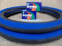 [2] 20'' X 1.95 BLACK & BLUE BICYCLE TIRES & [2] TUBES FOR GT, DINO, MONGOOSE,