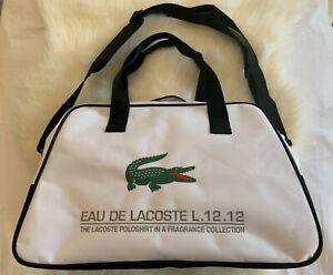 """Lacoste Eau De Lacoste L.12.12 Beige Carry Bag/Sports Bag/Weekender 18""""x11.5""""x6"""""""