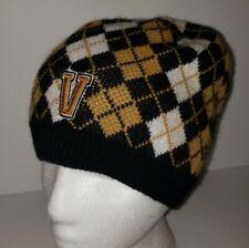 VANDERBILT COMMODORES VANDY black Gold Argyle Knit Beanie Cap