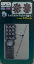 Lukgraph Models 1/32 LE RHONE TYPE J ENGINE