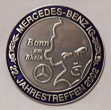 MBIG Plakette 22.Mercedes Jahrestreffen Bonn 2002 W120 W121 W128 W180 W110 W111