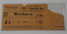 Ticket for collectors EC HSV Hamburg - Young Boys Bern 1960 Germany Switzerland