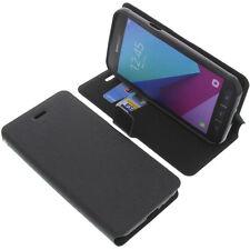 Étui pour Samsung Galaxy Xcover 4 Style Livre Etui Coque Gadget Noir