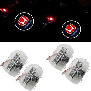 4PCS LED Car Courtesy Door Logo Light Ghost Shadow Laser Projector for Honda G