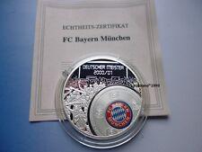 FCB BAYERN MÜNCHEN DEUTSCHER MEISTER 2000 - 2001 / VERSILBERT / PROOF
