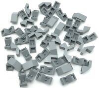Lego 50 New Light Bluish Gray Slope 45 2 x 1 with Cutout without Stud Sloped