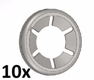 10 pezzi Starlock zincato 4 mm rondelle di sicurezza, anello securezza seeger