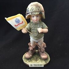 In Training 1994 Peace Is The Answer Fran Baggett TLC Greetings Figurine