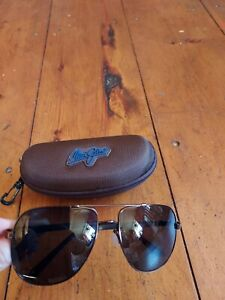 Maui Jim pilot aviation Sunglasses CASTLES  Brown - very good condition