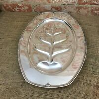 Tree of Life Footed Meat Tray Platter Dish Silver Plate Tree Of Life EPNS C6117