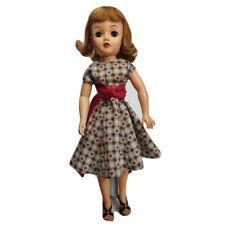 "Miss Revlon 18"" Ideal Vt-18 doll. Dressed in dress & red straw hat."