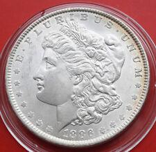 "USA-Amerika: 1 Morgan Dollar 1886 ""Hot"" .900 Silber, KM# 110, #F 2366"