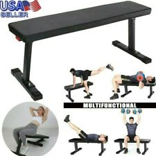 Power Block Weight Bench Sit Up Flat Crunch Board AB Abdominal Fitness Foldable