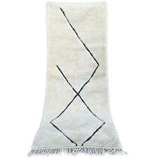 Handmade Runner rug Moroccan rug Beni Ourain boujaad Azilal rug 9 FT X 3.5 FT