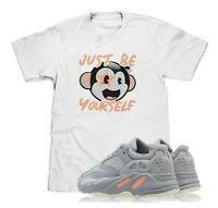 Just Be Yourself White T-Shirt Designed To Match Adidas Yeezy Boost 700 Inertia