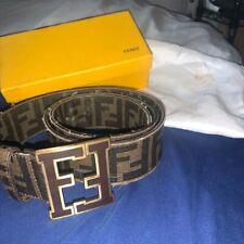 Mens Genuine Fendi Belt In Brown.