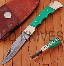 UD KNIVES CUSTOM HAND FORGED DAMASCUS STEEL POCKET FOLDING HUNTING KNIFE OY-5786