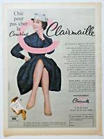 PUBLICITÉ DE PRESSE 1958 CLAIRMAILLE LE BAS DE MARQUE - ADVERTISING