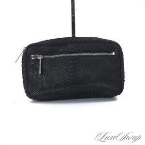 NWOT Michael Kors Genuine Python Snakeskin Exotic Onyx Black Waist Belt Bag NR