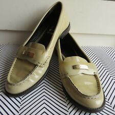Italy Made Burberry Oban 36/6 Penny Loafer Ivory Patent Leather Women's Shoes