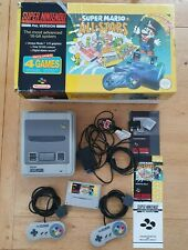 Boxed SNES Super Nintendo Entertainment System Console & Super Mario World Game