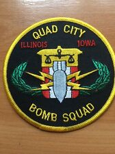PATCH POLICE QUAD CITY BOMB SQUAD  IOWA  ILLINOIS STATE