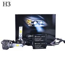 7200LM 80W H3 COB LED Lamp Headlight Kits Car Beam Bulbs 6000k White Upgrade A