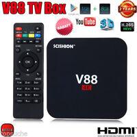 8GB V88 Smart TV Box 4K*2K Android 5.1 H.265 QuadCore 3D Media Player HDMI NEU