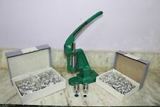 Hand Press Machine Green Fabric Cover Button With 2 Dies and Free Buttons Gift