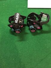 Razor Sparking Heel Wheels Nice set of Wheels Black with Pink and Blue See Pics