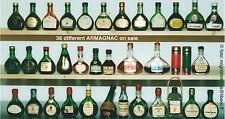 Liquori Armagnac lotto stock 36 mignon miniature bottigliette differenti