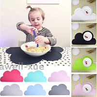 Silicone Insulation Pad Kids Baby Dining Table Kitchen Placemats Cloud shape Mat