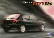 Peugeot 306 GTi-6 1996-97 UK Market Foldout Sales Brochure