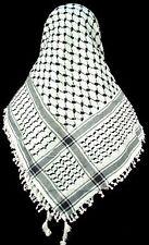 Keffiyeh Palestinian Scarf Yasser Arafat Style Shemagh Arab Black and White CHEQ