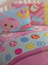 New Lalaloopsy Full Sheet Set SEW MAGICAL! SEW CUTE! Girl Pink/Blue NIP