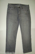 "BEAUTIFUL 7 FOR ALL MANKIND GREY CROPPED LENGTH DENIM JEANS 30 ""CROP KATE"""