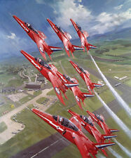 Litho Royal Review (Red Arrows Display Team) door Michael Turner