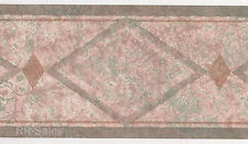 Aztec Southwest Native Adobe Tan Green Diamond Speckled Wall Wallpaper Border