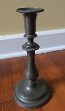 ANTIQUE PEWTER PUSH UP CANDLE STICK - 19th C