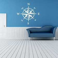 Compass nautical vinyl wall art decor decal boaty decorations boat ship sticker