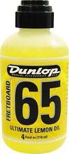 Dunlop Formula 65 Lemon Oil Guitar Fretboard Conditioner / Cleaner (4oz Bottle)