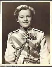 FREDDIE BARTHOLOMEW Vintage 1935 11x14 DBW Portrait PHOTO PROFESSIONAL SOLDIER