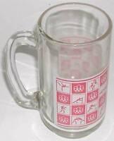 1976 OLYMPIC GAMES MONTREAL BEER DRINKING GLASS MUG VERY RARE!!!!!!!!!!!!!